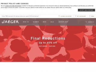 jaeger.co.uk screenshot