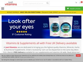 justvitamins.co.uk screenshot