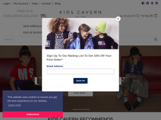 kidscavern.co.uk screenshot
