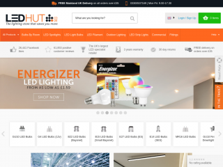 ledhut.co.uk screenshot
