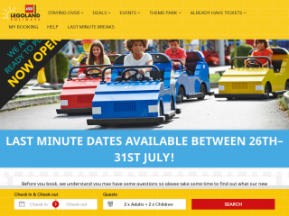 legolandholidays.co.uk screenshot