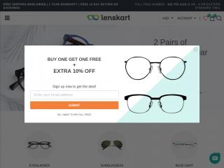 lenskart.us screenshot