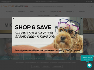 lowcostglasses.co.uk screenshot