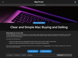 macfinder.co.uk screenshot