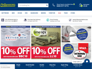 mattressman.co.uk screenshot