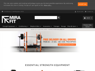 mirafit.co.uk screenshot