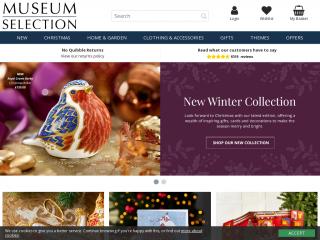 museumselection.co.uk screenshot