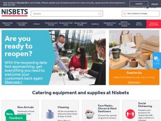 nisbets.co.uk screenshot