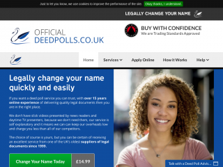 official-deedpolls.co.uk screenshot