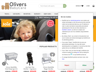 oliversbabycare.co.uk screenshot