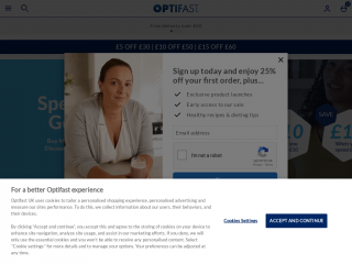 optifast.co.uk screenshot