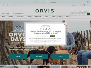 orvis.co.uk screenshot