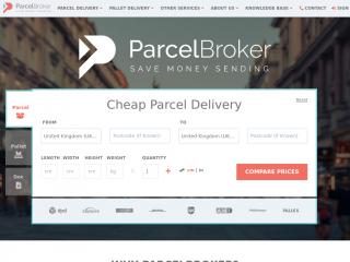 parcelbroker.co.uk screenshot