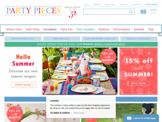partypieces.co.uk screenshot