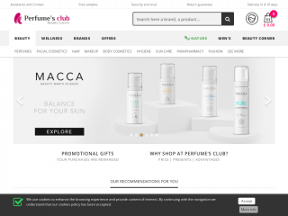 perfumesclub.co.uk screenshot