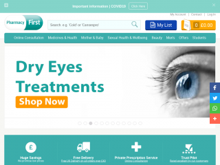 pharmacyfirst.co.uk screenshot