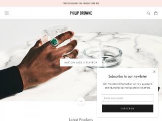 philipbrownemenswear.co.uk screenshot