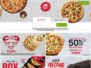 pizzahut.co.in screenshot