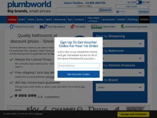 plumbworld.co.uk screenshot