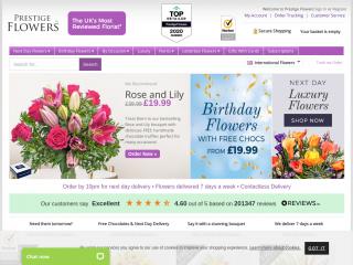 prestigeflowers.co.uk screenshot