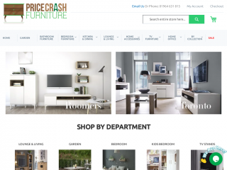 pricecrashfurniture.co.uk screenshot