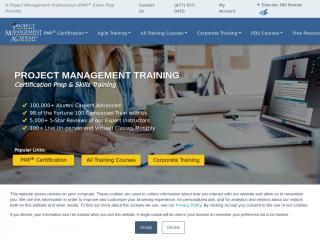 projectmanagementacademy.net screenshot
