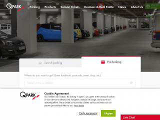 q-park.co.uk screenshot