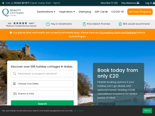 qualitycottages.co.uk screenshot