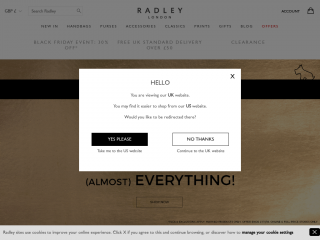 radley.co.uk screenshot