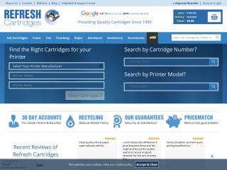 refreshcartridges.co.uk screenshot
