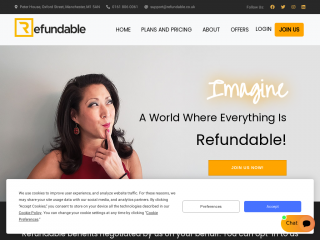 refundable.co.uk screenshot