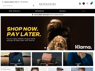 repertoirefashion.co.uk screenshot
