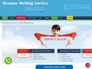 resumewritingservice.biz screenshot