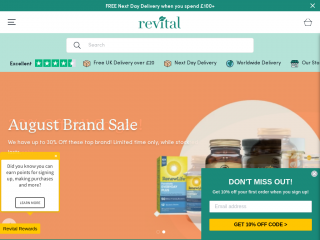 revital.co.uk screenshot