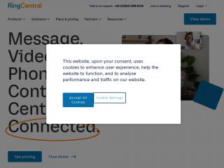 ringcentral.co.uk screenshot