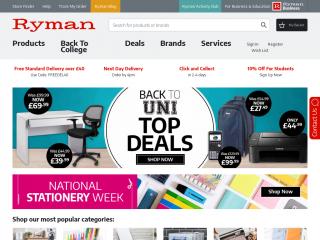 ryman.co.uk screenshot