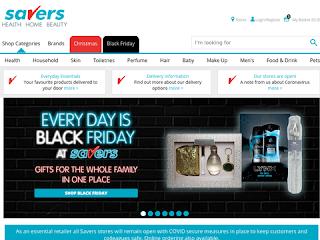 savers.co.uk screenshot