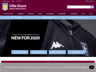 shop.avfc.co.uk screenshot