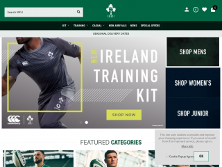 shop.irishrugby.ie screenshot