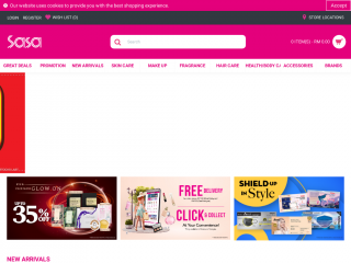 shop.sasa.com.my screenshot