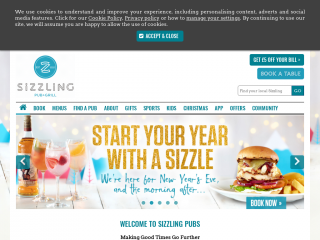 sizzlingpubs.co.uk screenshot