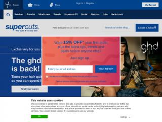 supercuts.co.uk screenshot