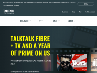 talktalk.co.uk screenshot