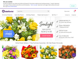 teleflorist.co.uk screenshot