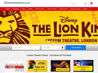 theatreticketsdirect.co.uk screenshot