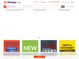 therange.co.uk screenshot
