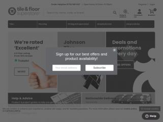 tileandfloorsuperstore.co.uk screenshot