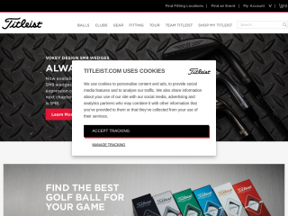 titleist.co.uk screenshot