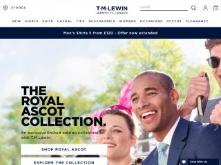 tmlewin.co.uk screenshot