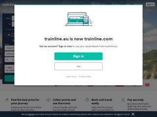 trainline.eu screenshot